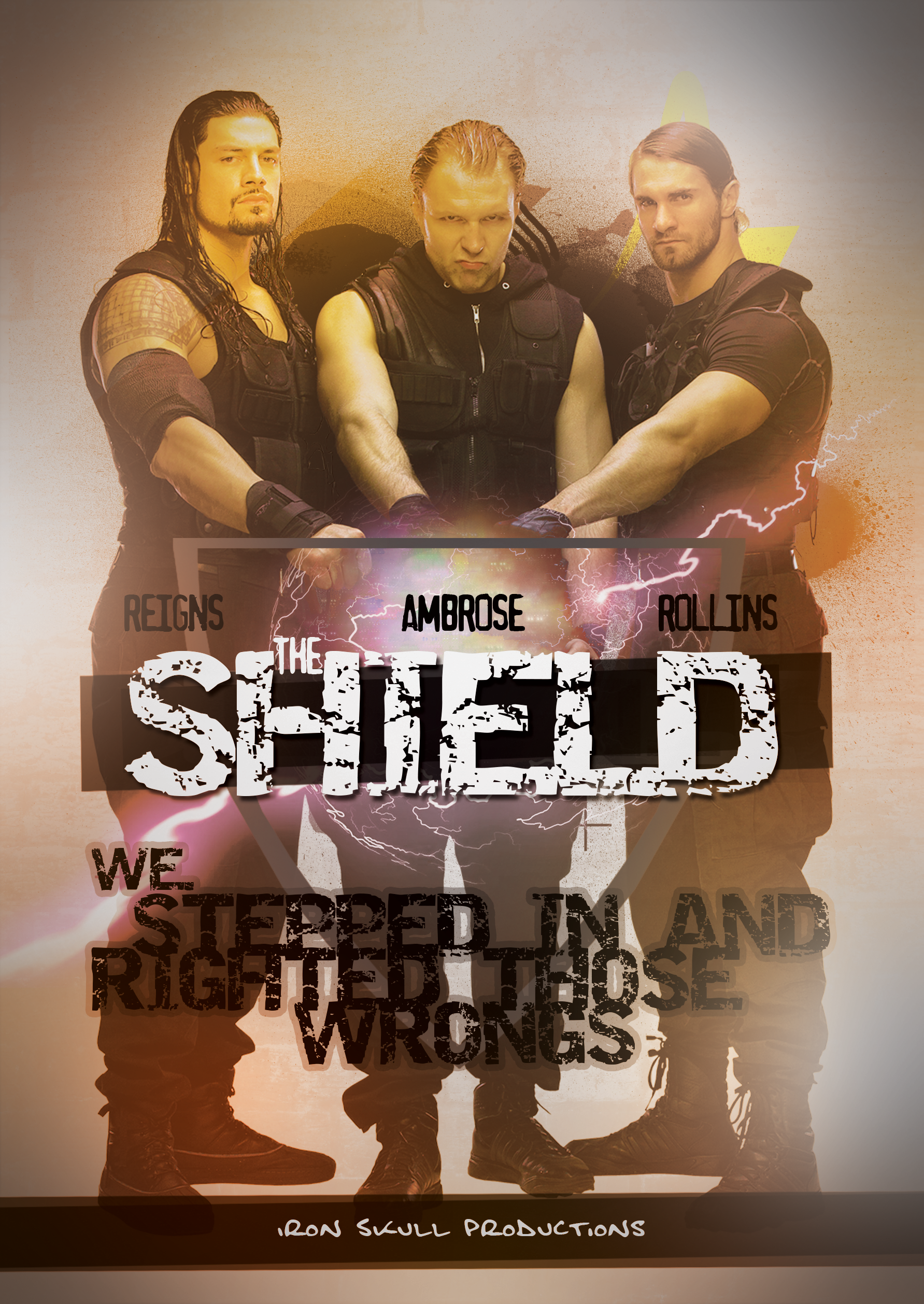 Wwe the shield poster by theironskull on deviantart - Download pictures of the shield wwe ...