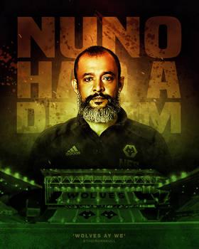 Nuno Had A Dream (Wolves Poster Design)