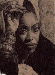 Erykah Badu napkin by JOSHic