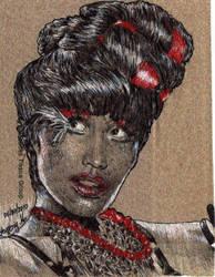 Nicki Minaj napkin by JOSHic