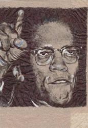 Malcolm X napkin... again by JOSHic