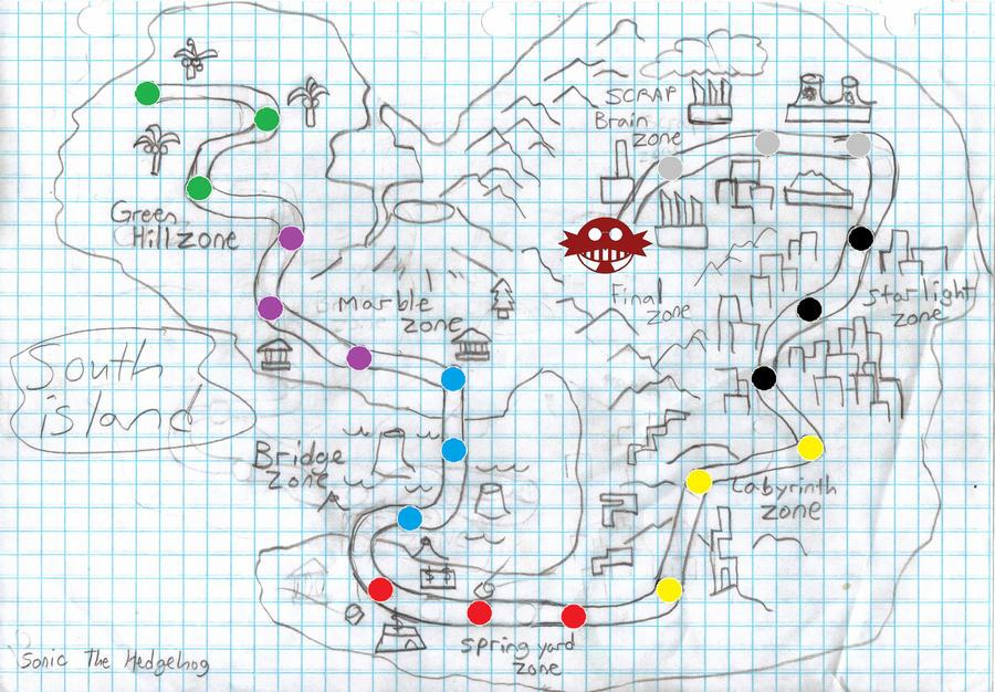 Sonic South Island Map