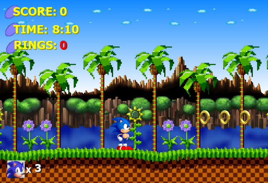 Sonic 1 Hd Gameplay Mock Up By Artman101 On Deviantart