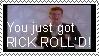 RICK ROLL'D stamp by midnightclubx