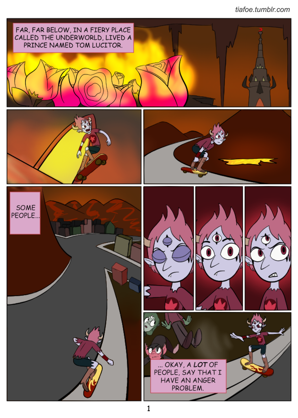 Tom Is A Force Of Evil: Chapter 1 Page 1 by midnightclubx