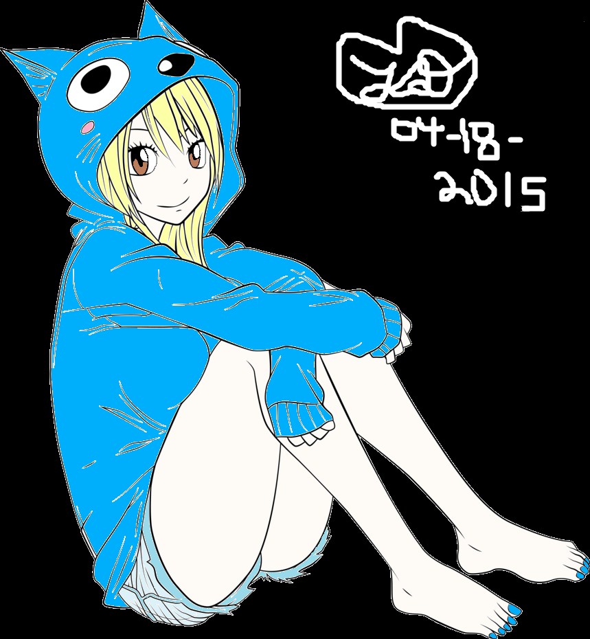 Lucy Happy Hoodie by Kaylove75