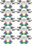 Rainbow Flower Pattern