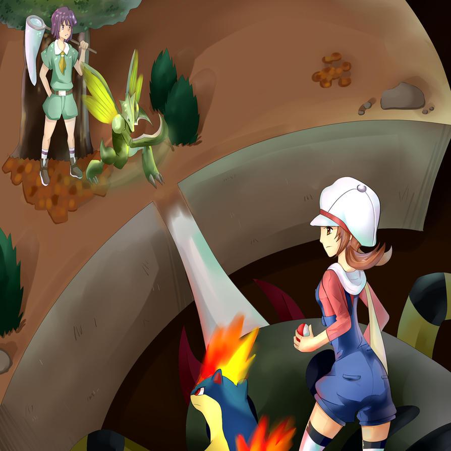 Pokemon gym battle bugsy by reaper145 on deviantart for Gimnasio 8 pokemon reloaded