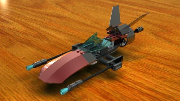 LEGO Speeder WIP 2 by pdotcdot