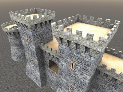 3dsmax low poly castle