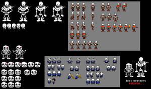 Horrortale - Papyrus Sprites and Sans Sprites