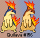 Quilava HG-SS Artwork Sprite by Eevee4Ever