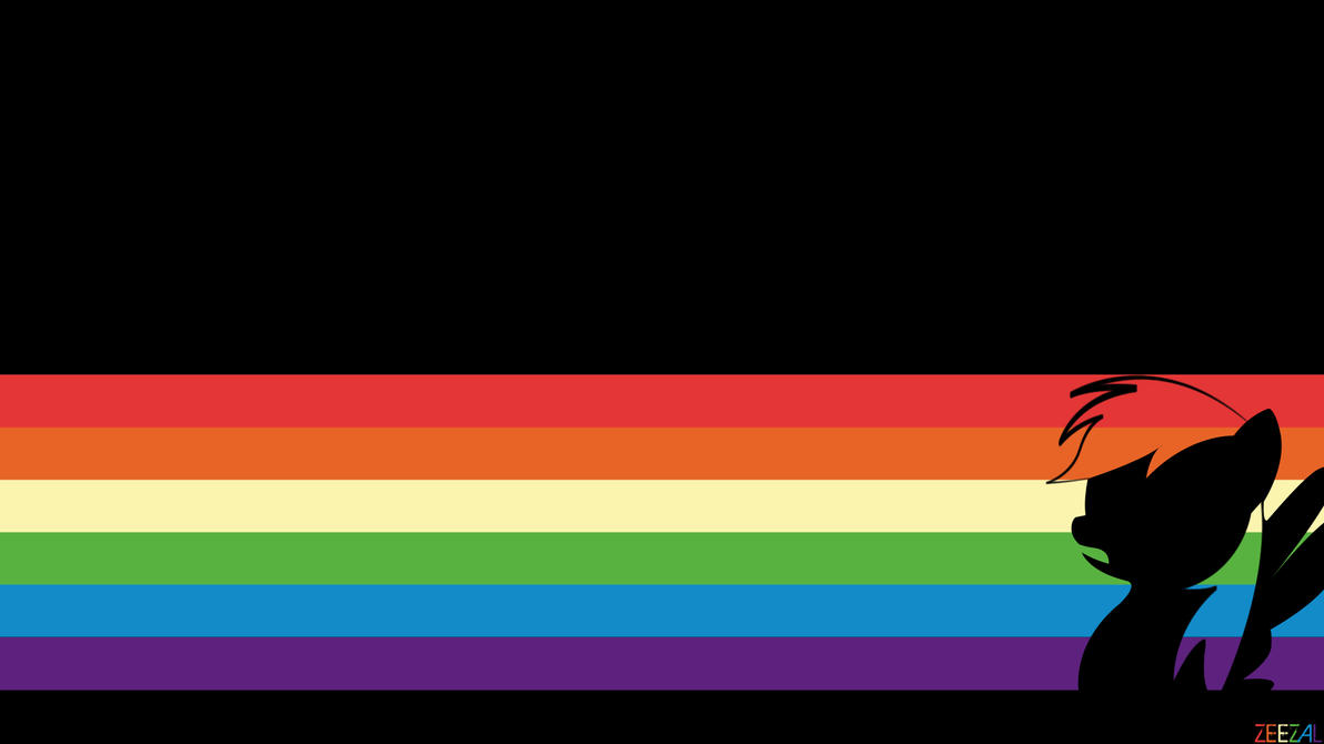 Rainbow Dash Minimal Wallpaper by Zeezal on deviantART