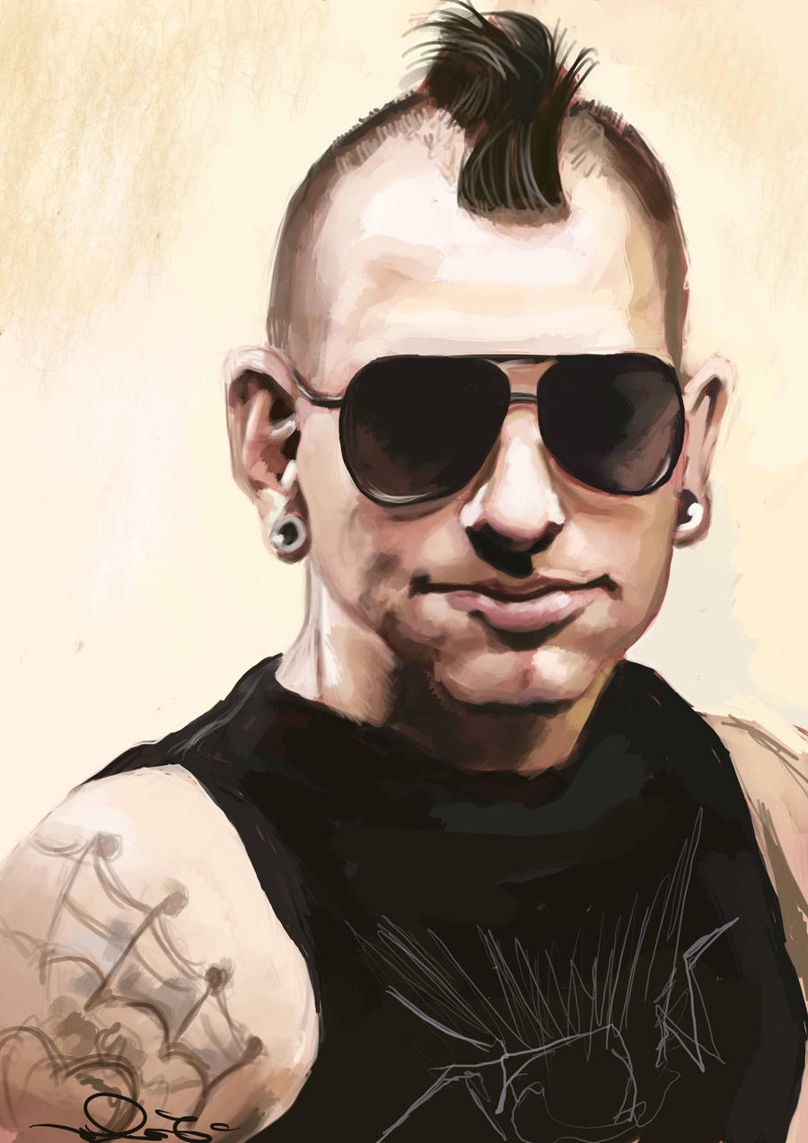 Matt Shadows by  M Shadows Mohawk