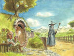 The Hobbit watercolor illustration
