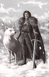 Jon Snow by alonsomolina1985