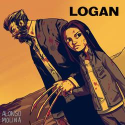 Logan and Laura fan art. by alonsomolina1985