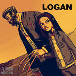 Logan and Laura fan art.