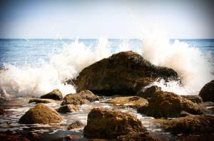 rocky shore by xkatielee