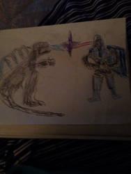 Godzilla vs Darkseid by ChinchillaChris67