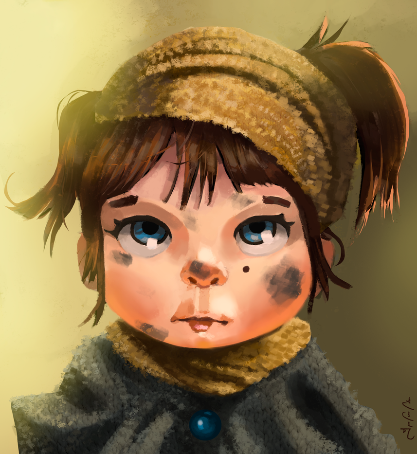 little girl by Narkiss