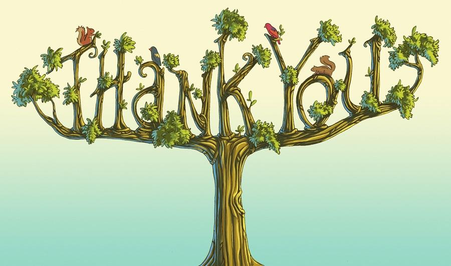 Thank you tree