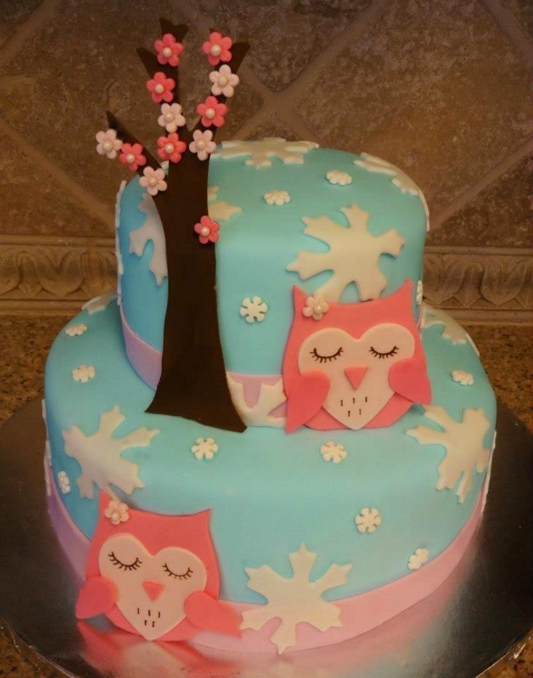 Winter owl cake by HeathurHavoc on DeviantArt