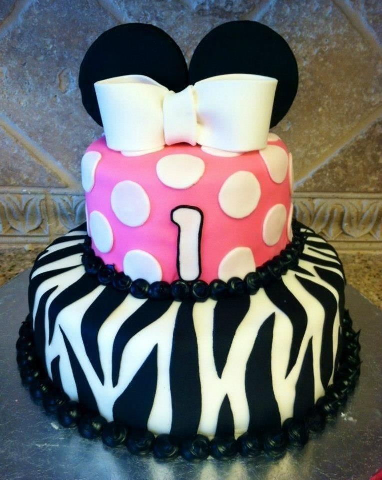 Minnie Mouse zebra cake by HeathurHavoc on DeviantArt