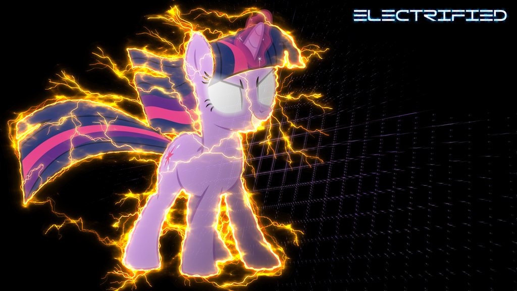 MLP Wallpaper Twilight electrified (Reworked) by PrivateScoop