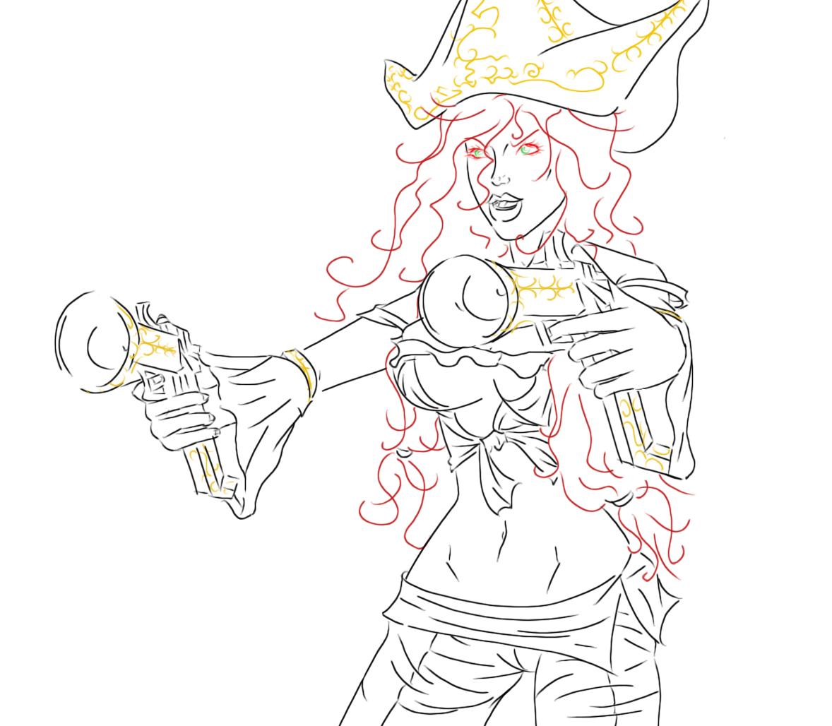 Miss Fortune sketch by EndOfDream on DeviantArt