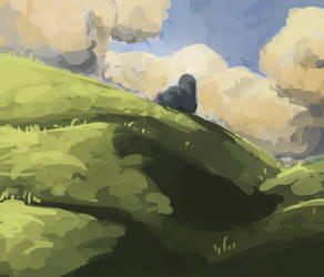 Stone on the Hill by AnggadpArt