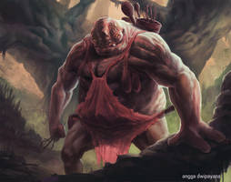 Forest Ogre by AnggadpArt