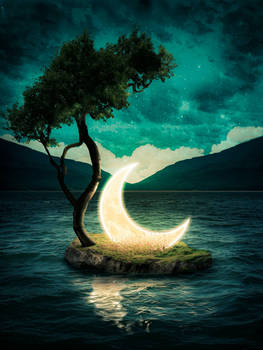 A quiet place with the moon