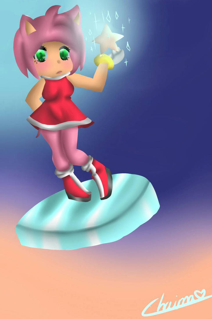 My little star [Amy Rose] by Chaina-Art-Sonic