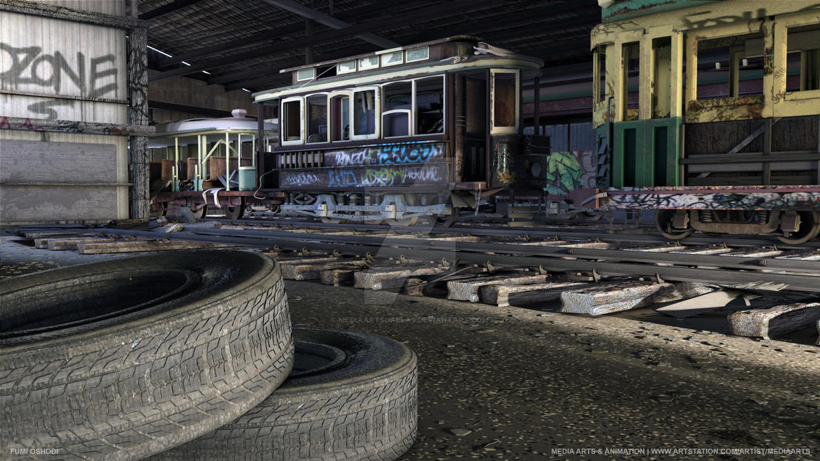 Fumi Oshodi | Abandoned Trolley Shed by mediaartsdallas