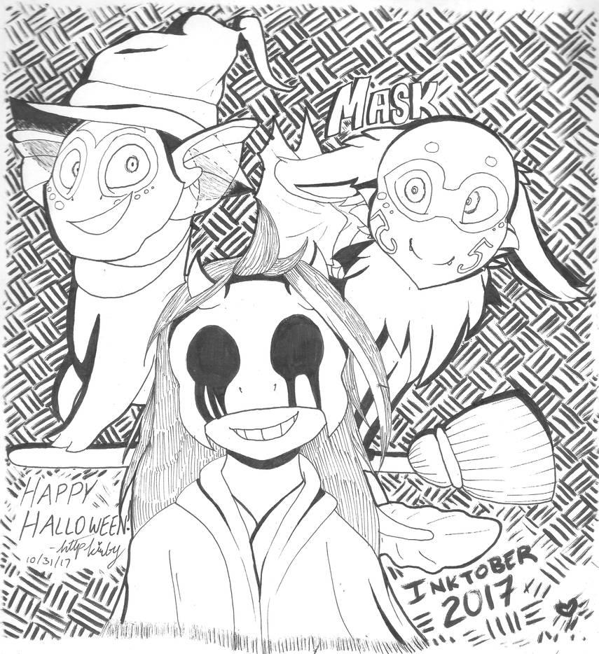INKTOBER Day Thirty One - Mask by httpkirby