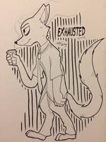 INKTOBER Day Seven - Exhausted [2018] by httpkirby