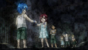 Jellal and Erza as slaves