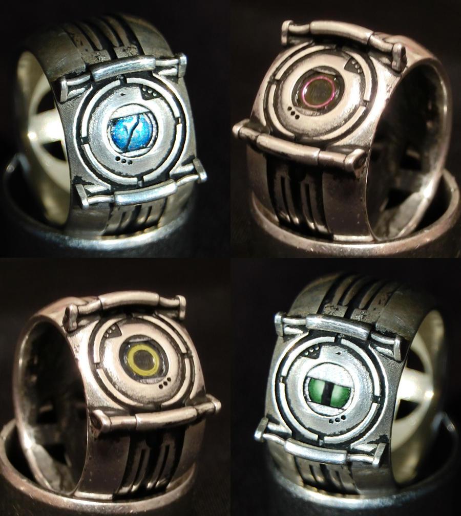 Portal Corrupt Core Rings (Silver) by ammnra