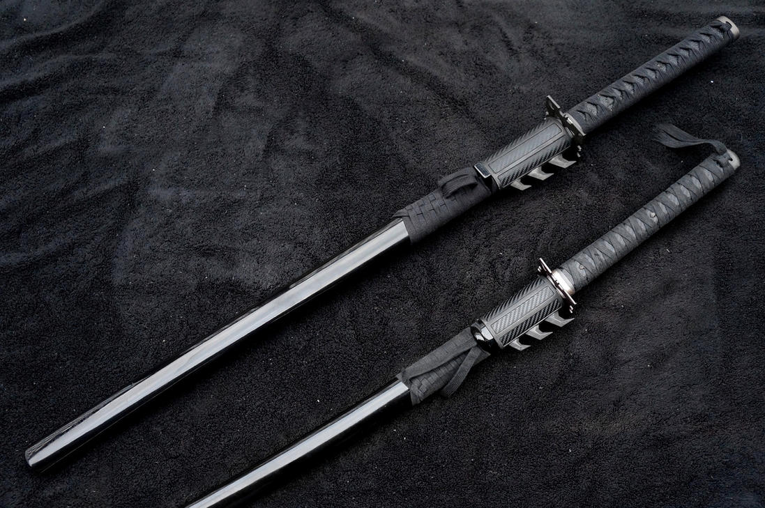 Batman Themed Ninja/Samurai Swords (Nolan Verse) by ammnra