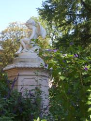 Angel in a garden by melusineblack
