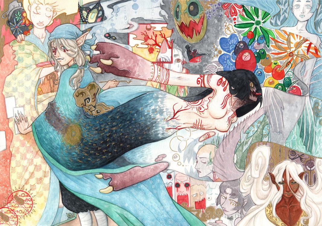 Mononoke bakeneko finished by mementomoryo on deviantart - Mononoke anime wallpaper ...