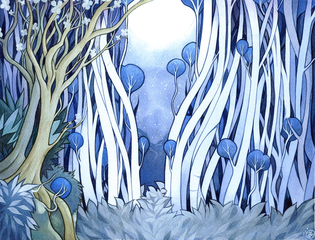 Jungle Book - night forest by mementomoryo