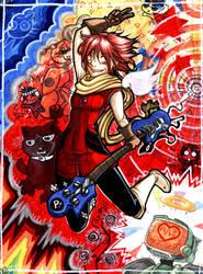HYBRID RAINBOW - furikuri by mementomoryo