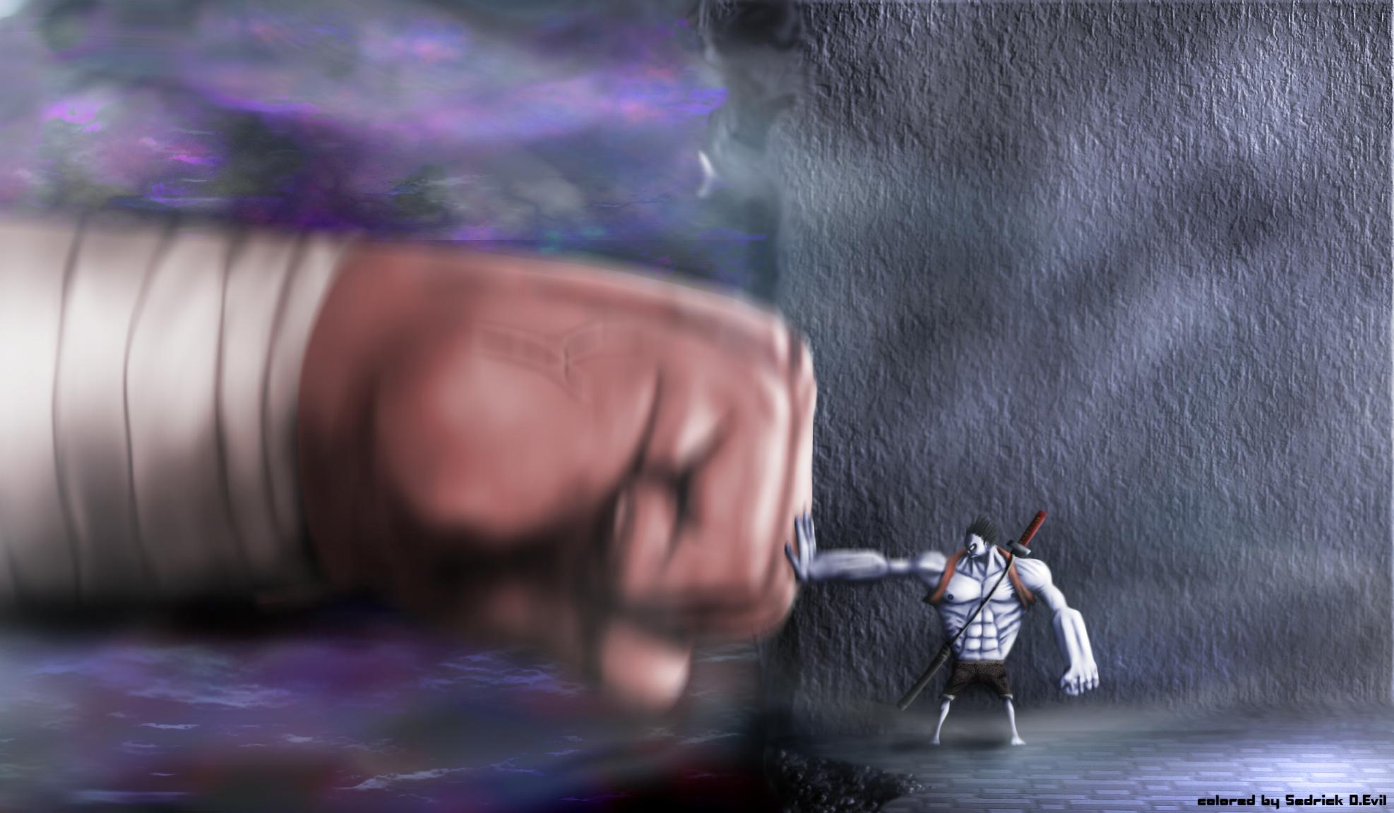 Gigant Ours vs Nightmare Luffy by Sedrick-D-Evil