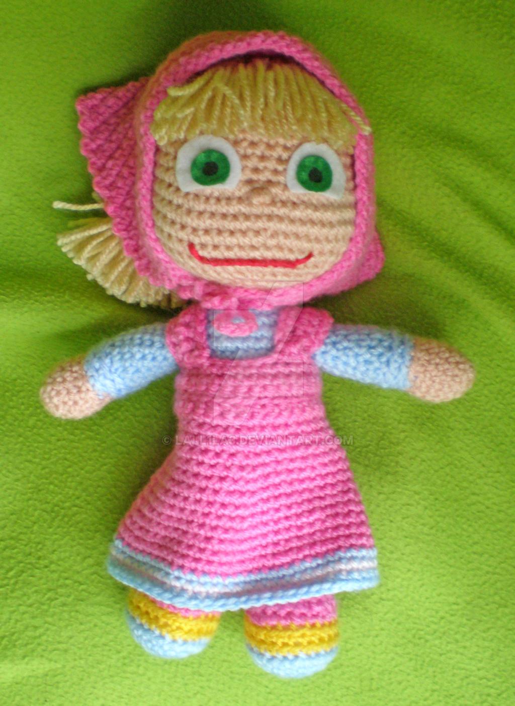 Amigurumi Masha and crochet bear amigurumi Part I – step by step ... | 1404x1024