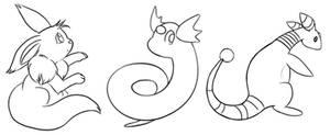 Pokemon Lineart