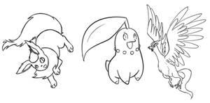 Pokemon Lineart 2