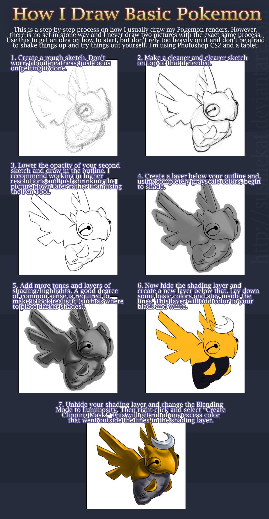 Basic Pokemon Tutorial by sushiekat