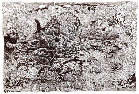 The Kraken becalmed at the centre of the maelstrom